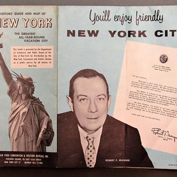 New York City Map - February 1961 - Paper