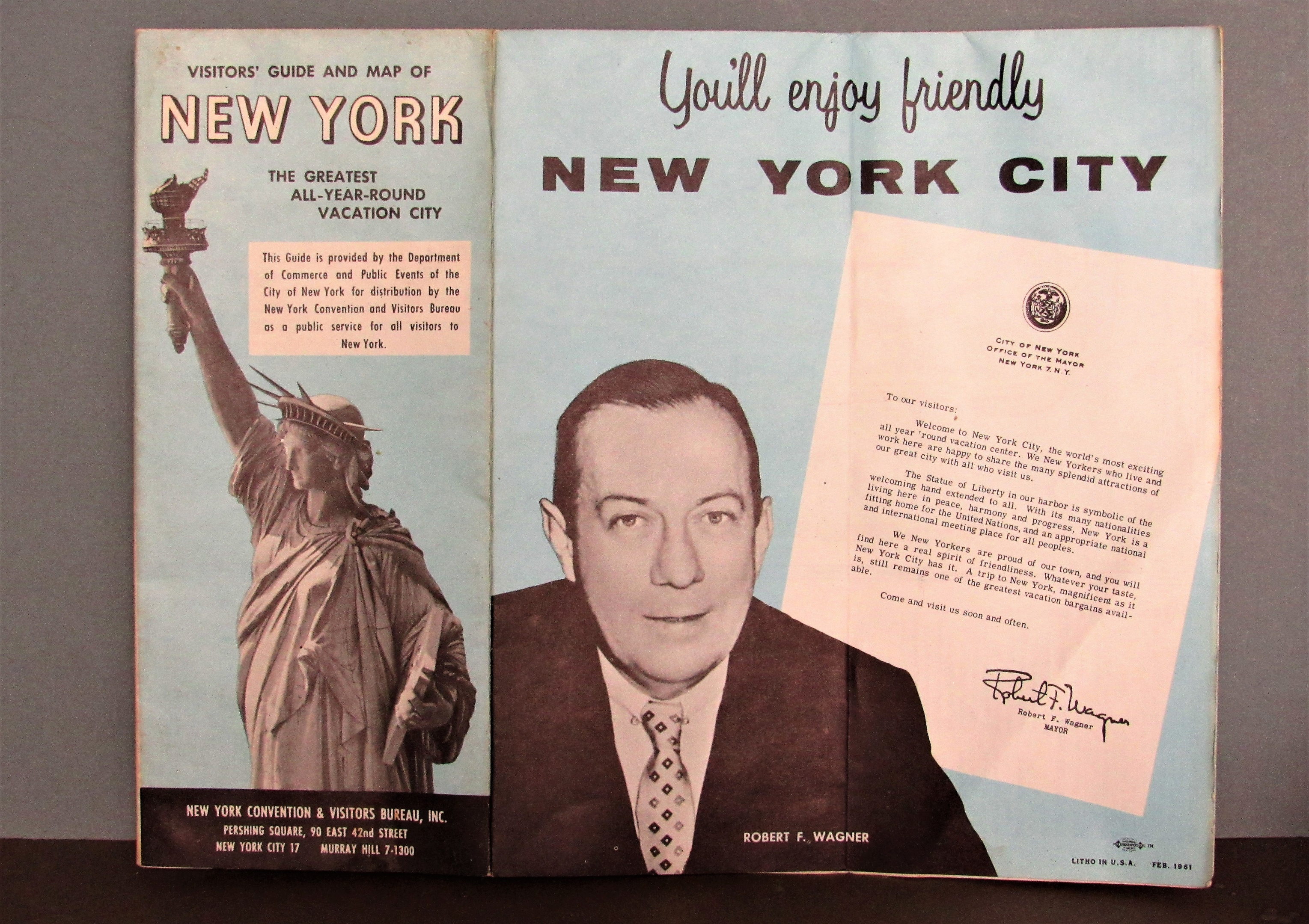 New York City Map - February 1961 | Collectors Weekly
