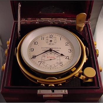 Ulysse Nardin Ship's Chronometer from USS Fayette c.1943 - Clocks