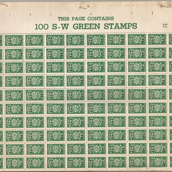 S-W (Sure Winner) Green Trading Stamps