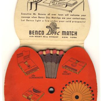 Benco Disc Matchbook - Tobacciana