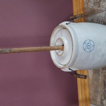butter churn crock - Pottery