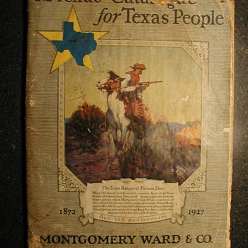 This is an original (Not a reprint) A Texas Catalog for Texas People. Montgomery Ward & CO. Fort Worth Spring & Summer 1927 - Books