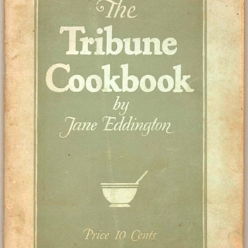 "1925 - ""The Tribune Cookbook"" - Books"