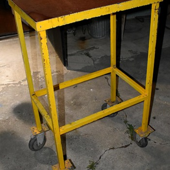 Vintage Mechanic's Work Table - Furniture