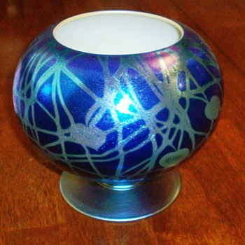 Durand Footed Rose Bowl Vase c.1925 - Art Glass