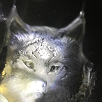 Bob cat(I think) glass chunk - Art Glass