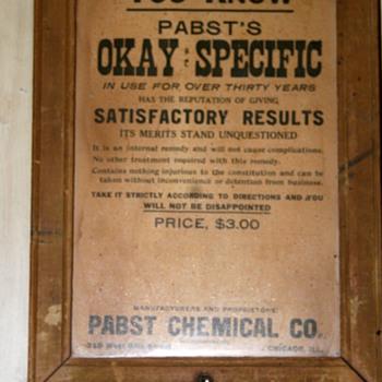 Snake Oil...Pabst's OK Specific