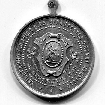 Hersfeld Battle of Sedan Commemorative Medal