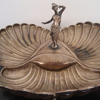 Help identifying Silver Makers Mark Greek?  Huge Candy Bowl - Silver