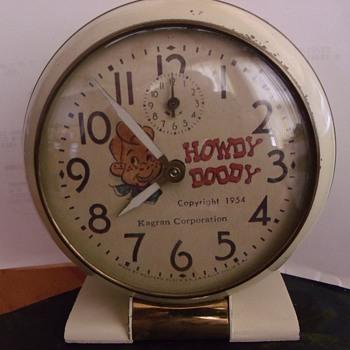 1954 Howdy Doody Alarm Clock - Clocks