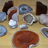 Agate pieces and geodes