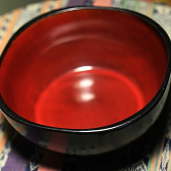 Red and Black Bowl - Unsigned - Kitchen