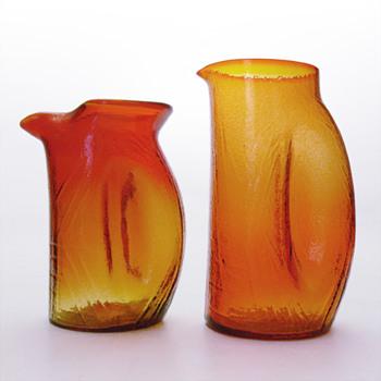 PINGVIN jugs, Christer Sjögren (Lindshammar, 1960s) - Art Glass