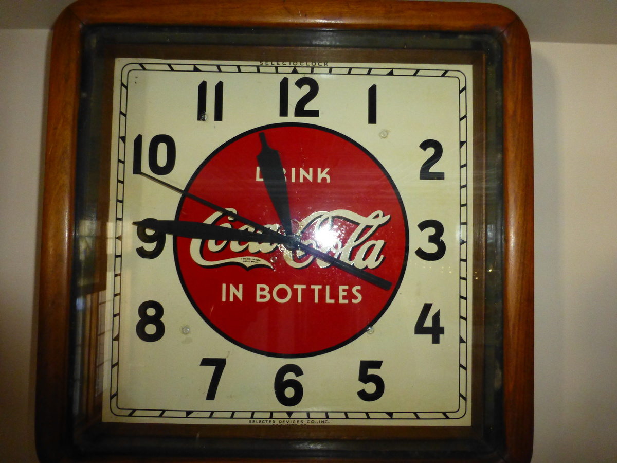 1930 S Coca Cola Selected Devices Wood Frame Clock