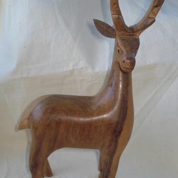 "ELK  BOCOTE WOOD FIGURINE Thank, to ""fhrjr2"" I learn this :) - Animals"