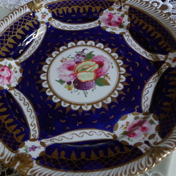 Set of Two Beautiful Hand-Painted Plates - China and Dinnerware