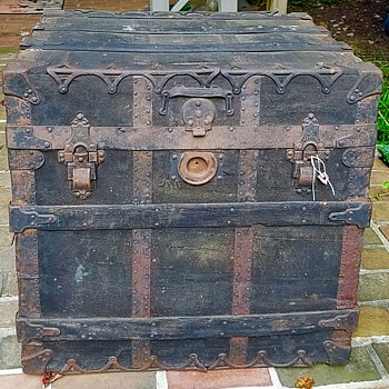 C.A. Taylor Trunk Wks.  No. 2 Professional Trunk - As Found Pre-Clean - Furniture