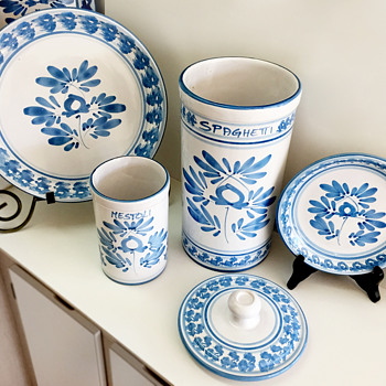 Caltagirone Italy Ceramic Partial Dining Set - China and Dinnerware