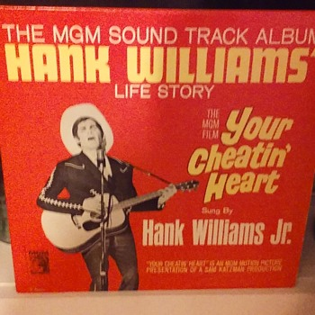 Soundtrack Week..#3..'Hank Williams Life Story'..On 33 1/3 RPM Vinyl - Records