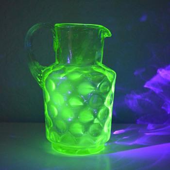Uranium glass jug