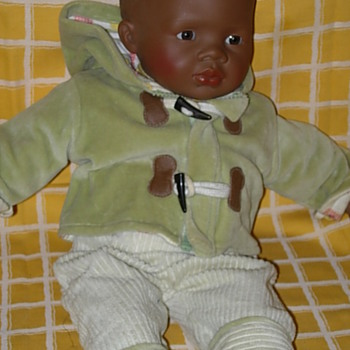 Black baby boy by Mariquita Perez - Dolls