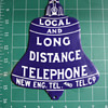 New Eng Tel. and Tel. Co. die-cut Local and Long Distance Bell
