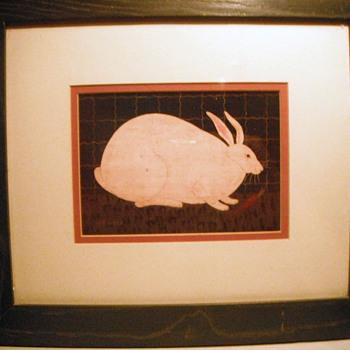 """""""Fat Rabbit"""" Americana Warren Kimble - Animals"""