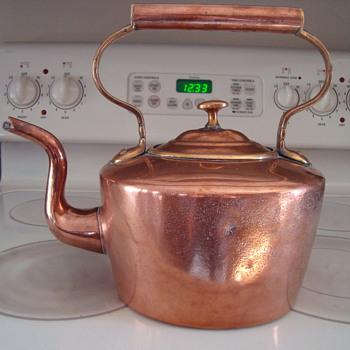 Antique Copper Kettle - Kitchen