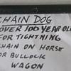 Bullock wagon chain tightener