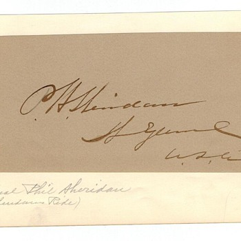 Philip Henry Sheridan Autograph - Civil War General, General of the Armies of the United States - Military and Wartime