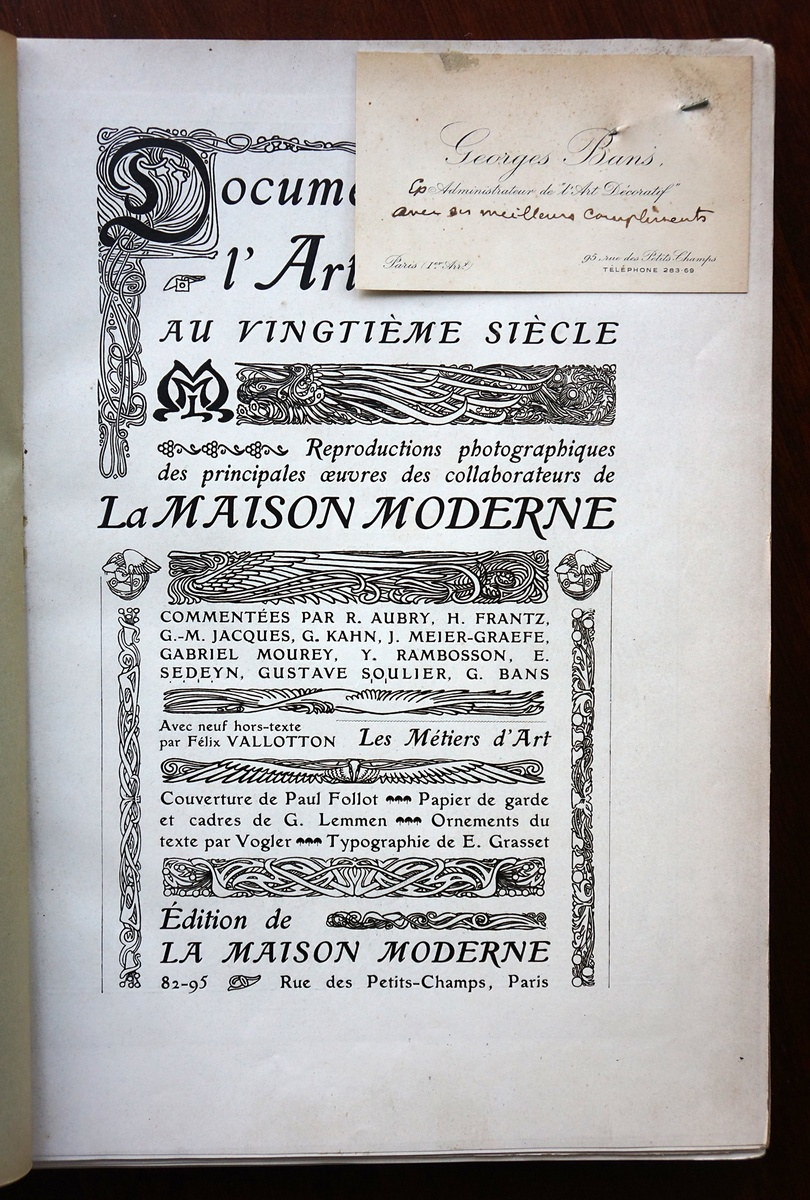1901 La Maison Moderne Design Catalog | Collectors Weekly