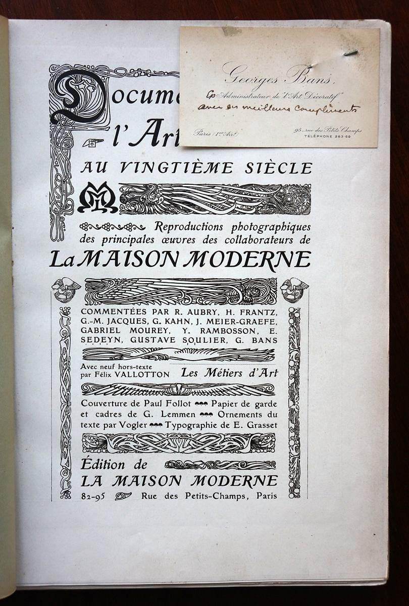1901 La Maison Moderne Design Catalog | Collectors Weekly