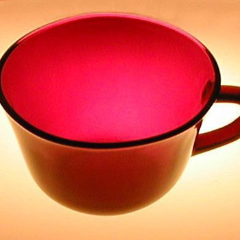 Anchor Hocking Ruby Red Glass Cups
