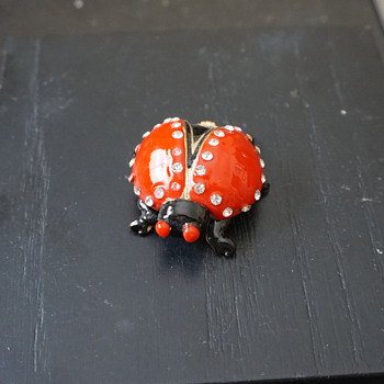 Lady Bug Trinket Box - Costume Jewelry