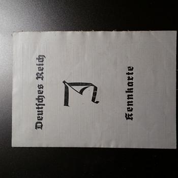 1939 NS issued J-Kennkarte  (ID) - Paper
