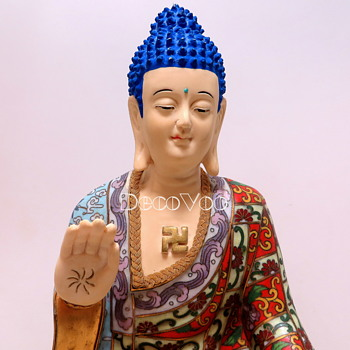 "Tibetan Buddha 13 1/2"" Tall - Asian"