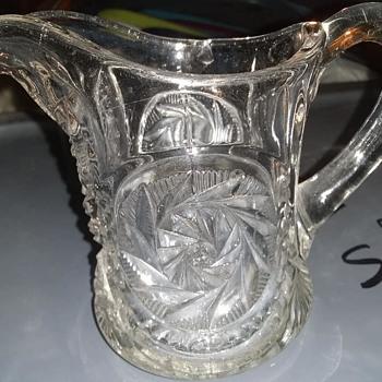 EAPG pinwheel motif creamer mystery - Glassware
