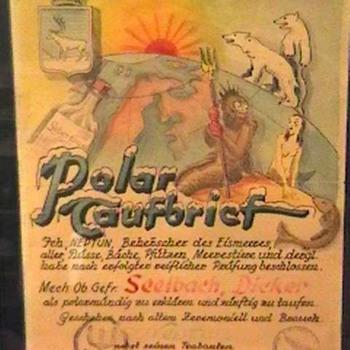 WW II German Artic Circle Crossing Certificate - Military and Wartime