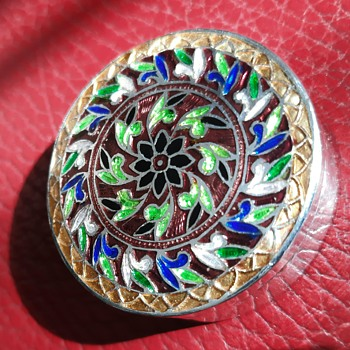 Enameled silver pill box - Accessories
