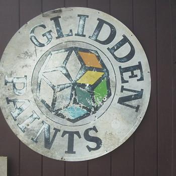 Vintage Glidden Paints Sign  - Signs