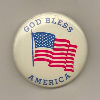 """God Bless America"" - Pinback - Medals Pins and Badges"