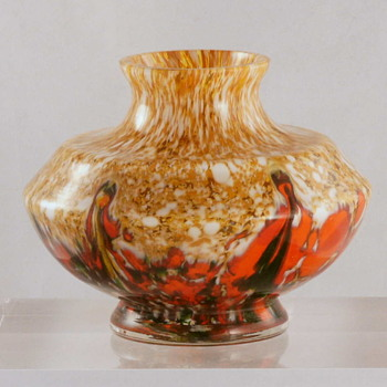 A Welz Vase -  Seen More Than Once With The Royal Art Glass Label  - Art Glass