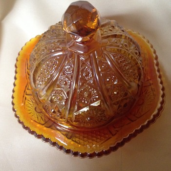 Indiana Glass Carnival Butter Dish - Glassware