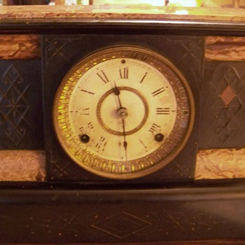 Seth Thomas Adamantine Mantel Clock - Clocks