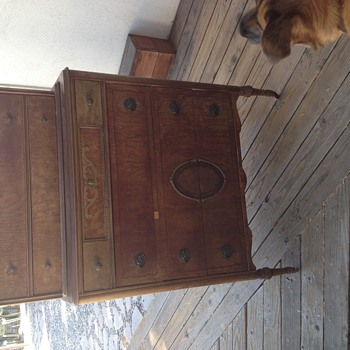 Highboy with Inlay Can't identify - Furniture