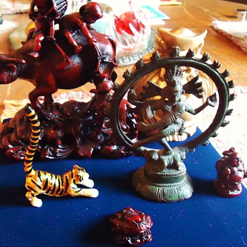 Asian Figures $16.09  I just wanted the bell and Dancing Shiva Nataraja, Tiger maybe not Asian?