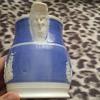 antique unmarked bone china jug, raised decoration