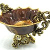 A Beautiful Centerpiece Gold Trimmed  Bowl
