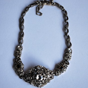 Vintage Victorian style bracelet with rose cut diamonds - Fine Jewelry